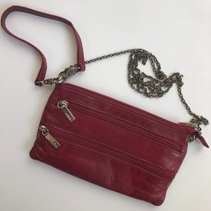 HOBO Int'l Crossbody Leather Purse Bag in Red | OS